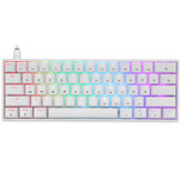 Geek GK61 61 taster Mekanisk spiltastatur Hot-swappable Gateron optisk switch RGB Type-C Programmerbart 60% layout gamingtastatur