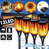 51CM 12LED solare Flame Lawn Light Warm White Waterproof Outdoor Garden Fire Torch lampada