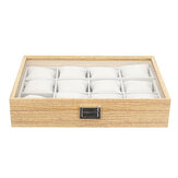 6/12/30 Slots Wooden Material Watch Box with Pillow