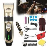20 Pcs Pria Listrik Pemangkas Rambut Clipper Cordless Barber Alat Cukur Jenggot Potongan Rambut Kit