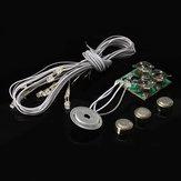 هوميدا صوت تنشيط ضوء دمية جزء زر خلية ضوء البطارية مع الأسلاك
