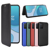 Bakeey for OnePlus 8T Case Carbon Fiber Pattern Magnetic Flip with Multi Card Slots Wallet Stand PU Leather Full Cover Protective Case
