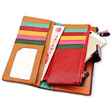Women Cowhide  Genuine Leather Long Wallet 22 Card Holder Hasp Purse Coin Bags 5.5'' Phone Wallet
