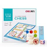 Deli 6759 Classic Game Chess Children Puzzle Portable Opvouwbaar Funny Chess voor Home Family Entertainment Supplies