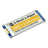 Waveshare® 2.9 Inch ink Screen E-Ink Display 296×128 Resolution Black Yellow White Three-color E-paper Module