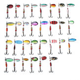 ZANLURE 30pcs Metal Fishing Lure Minnow Poper Pike Salmon Bait Bass Trout Fish with Hook