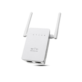 300Mbps 802.11 Dual Anten không dây Wifi Phạm vi lặp Repeater Booster AP Router UK Plug