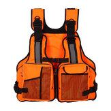 Adult Fishing Vest Adjustable Life Jacket Vest Kayak Reflective Sailing Kayak With Pockets