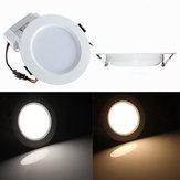 7W Yuvarlak LED Gömme Tavan Paneli Aşağı Işık Sürücülü
