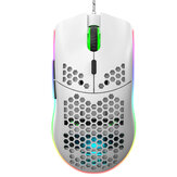 HXSJ J900 Wired Gaming Mouse Six-Key Macro Programming Mouse Six Level Adjustable DPI Colorful RGB Gaming Mouse