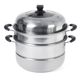 Stainless Steel 3-Layer Boiler And Steamer Thickened Double Pot Stainless Steel Pot