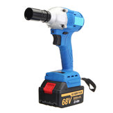 68V Cordless Lithium-Ion Electric Impact Wrenche Brushless 380Nm Torque With 2 Battery
