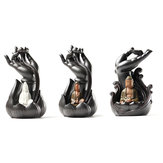 Ceramic Incense Cone Burner Holder Smoke Backflow Censer Guanyin Decor
