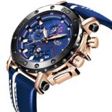 LIGE 9899 Moda Homens Pulseira de couro Relógio luminoso Relógio de quartzo