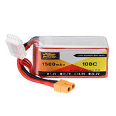 ZOP POWER 14,8 V 1500 mAH 100C 4S Akumulator Lipo z wtyczką XT60 do drona RC Eachine Wizard X220S FPV Racer