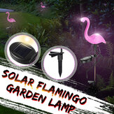 Zonne-energie Pink Flamingo LED gazon licht Outdoor Garden Stake Landschap Lamp