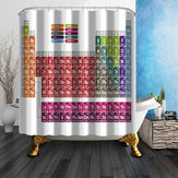 180x180cm Creative Periodic Table of Elements Shower Curtain Polyester Bathroom Decor