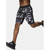 Herren Camo Patchwork Light Casual Kordelzug Taille Sport Shorts