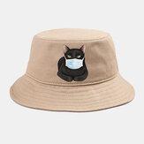 Collrown Cute Katze Isolierter Hut Baumwolle-Quarantäne-Eimer Hut