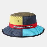 Chapeau de pêcheur de couture multicolore de Collrown Chapeau de seau de chapeau respirant imperméable