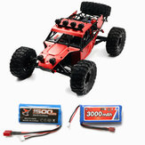Feiyue FY03H with Two Battery 1500+3000mAh 1/12 2.4G 4WD Brushless RC Car Metal Body Shell Truck RTR Toy