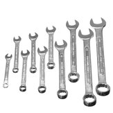 10Pcs Steel Reversible Combination Ratcheting Wrench Set