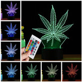 3D LED Arce Hoja Tabla Lámpara Control remoto Toque Night Light Color Change Gift