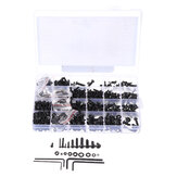 Suleve MXCH11 1220Pcs M2 M3 M4 M5 Carbon Steel Pan Head Hex Socket Screw Hex Screws Nut Assortment Kit