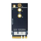 WTXUP Scheda di rete Apple per NGFF M2 Scheda adattatore Scheda WiFi bluetooth per NGFF M2 Adattatore per BCM94360CS2 BCM94360 BCM943224