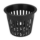 10Pcs  Black Mesh Net Hydroponic Aeroponic Flower Container Plant Grow Pot Cup Planting Baskets