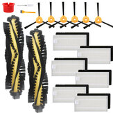 17pcs Replacements for EcovacsDeebot N79 N79S Vacuum Cleaner Parts Accessories Main Brush*2 Side Brushes*6 HEPA Filters*6 Yellow Cleaning Brush*1 Brush*1 Red Circle*1