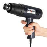 250 L / Min 1500W Schwarz High Power Heißluftpistole + Eine Düse EU Stecker 400 ℃ / 600