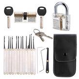 DANIU Unlocking Lock Opener Kit Szkolenie ślusarskie Transparent Practice Kłódki Narzędzia