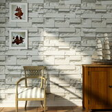 Brick Pattern 3D Textured Włóknina Tapeta Tło Naklejki Home Decor
