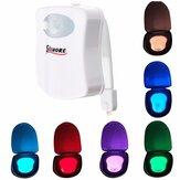 1X 5X 10X SOLMORE Lâmpada Luz Noturna LED de Banheiro 8 Cores Ativado por Sensor de Movimento de Corpo Lâmpada de Casa de Banho