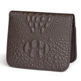 Menn ekte lær krokodille mønster personlig lommebok