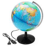 32cm Illuminated World Globe Geographic Terrestrial Tellurion Globe Electric LED Light