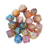 7Pcs Polyhedral Dice Set Board Game Multisided Dices Gadget Acrylic Polyhedral Dices Role Playing Game Accessory For Dungeons Dragon