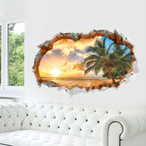 MIICO 3D Criativo Luz Do Sol Praia Coco Palm Partido Parede Removível Da Parede Home Decorativa Wall Decor Decor Sticker