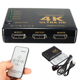 4K 5-Port 1080p HD Mutimedia Interface 3D Switcher Selector Splitter Video Hub For PS3 HDTV