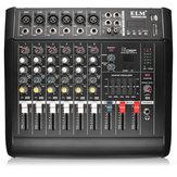 EL M PMX602D-USB 6 Canal Amplificador de Potência DJ Karaoke Mixer de Áudio USB Cartão de Memória de Suporte