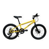 CMSBIKE 20 بوصة 6 سرعات دراجة هوائية جبلية مزدوجة فرامل قرصية للطلاب على الطرق الوعرة دراجات BMX Youth دراجات على الطرق للأطفال بعمر 6-12 سنة