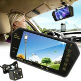 7 Inch TFT LCD bluetooth Car Rear View Parking Mirror Monitor + Reversing Car Camera