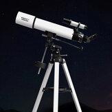 Telescopio astronómico refractivo profesional BEEBEST XA90, telescopio ecuatorial alemán de vidrio totalmente revestido con apertura de 90mm