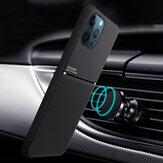 Bakeey pour iPhone 12 Pro Max étui en cuir magnétique Texture antidérapante TPU antichoc Pro étui protecteur