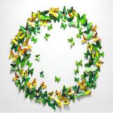 12pcs 3d adesivos de parede borboleta imã de geladeira para decoração de casa