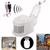 Outdoor LED Security Infrared PIR Motion Sensor Detector Wall Light Lamp Switch AC110V-240V