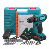 32V 2 Speed Power Drills 6000mah Cordless Drill 3 IN 1 Electric Screwdriver Hammer Drill with 2pcs Batteries
