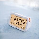 Bakeey Alarm Relógio Multi-função Smart bluetooth Timekeeping Relógio Digital Diaplsy Eletrônico com Data de Temperatura Relógio Suporte Cartão SD
