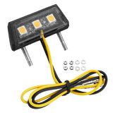 Universal Motorcycle LED License Plate Lights 3 Warna Untuk Honda/Kawasaki/Yamaha / Suzuki